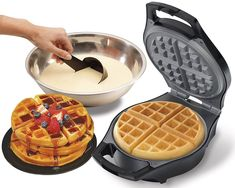 Waffle Irons J-Jati Maker The Mini Machine Belgian For Individual Waffles Hash Belgian Waffle Iron, Best Waffle Maker, How To Make Waffles, Making Waffles, Belgium Waffles, Belgian Style, Specialty Appliances, Kitchen Appliances, Hamilton Beach
