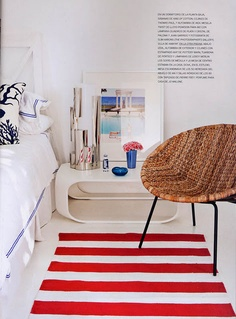 The juxtaposition of the rug next to the bed looks very welcoming when you get in and out of bed.