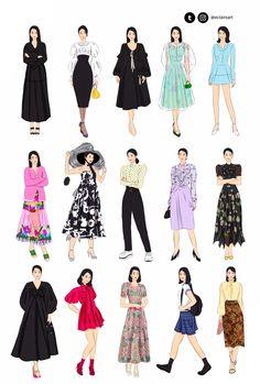 Kpop Fashion Outfits, Blackpink Fashion, Young Fashion, Fashion Design Drawings, Fashion Sketches, Moda Kpop, Fairytale Fashion, Fashion Dictionary, Korean Girl Fashion