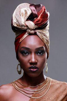 Beautiful African Women, Beautiful Black Women, Beautiful People, Turbans, Black Royalty, African Head Wraps, V Cute, Black Makeup, Naturally Beautiful
