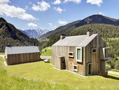 Modern Wood-Clad House Uses Limestone Walls for Passive Cooling in the Italian Alps | Inhabitat - Green Design, Innovation, Architecture, Green Building