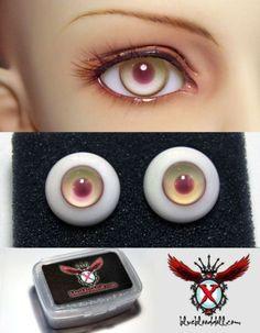 EL 1 Pair Of 18mm Gray//grey Glass Eyes For DZ BJD Dollfie Pupil Boring