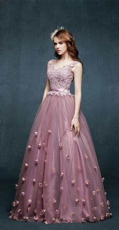 Lace, satin, tulle