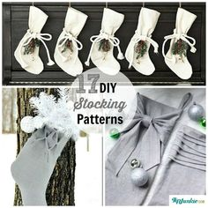 DIY Stocking Patterns- whip up a stocking in no time with these free patterns #make #stocking