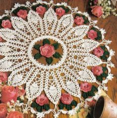 Pineapple and Roses Doily Pattern to crochet. ************************************ ************************************ More Great Looks Like This