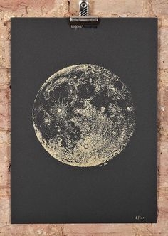 Stippling | Full Moon screeprint by Sabrina Kaici | Check out more great content at: www.emrld14.com