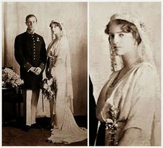 The Yusupov Rock Crystal Tiara ~ Felix and Irina Yusupov on their wedding day 1914 ~ Felix Yusupov (1887-1967), known for his role in the assassination of Rasputin, married Tsar Nicholas II's niece, Irina Alexandrovna (1895-1970). Felix bought this Cartier tiara as a gift for his bride. She wore the Yusupov Rock Crystal Tiara on their wedding day, where it held a veil that had belonged to Marie-Antoinette.