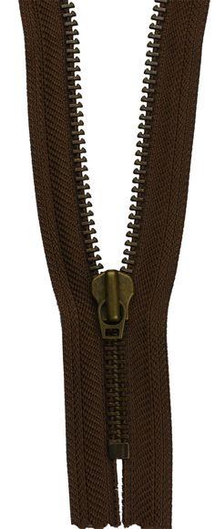 YKK Sefa Fermuar Tip 8 Prinç Oksit Diş Maçalı Kürsör Dipli Polyester Renk 570 Metal Fermuar