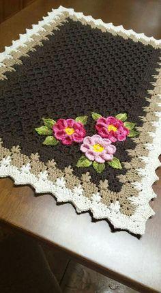 24 Ideas For Knitting Blanket Baby Girls Afghan Patterns Crochet Home, Crochet Motif, Crochet Crafts, Crochet Doilies, Yarn Crafts, Crochet Patterns, Afghan Patterns, Baby Girl Crochet Blanket, Crochet Baby