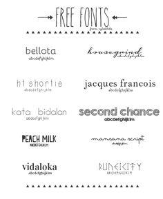 RyleeBlake: july fonts  ~~ {10 Free fonts w/ easy download links}