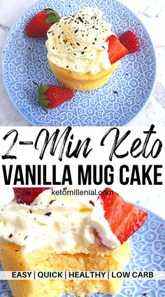 Crazy-delicious keto vanilla cake in a mug recipe. If you're looking for a tasty and moist cake for a low carb diet, you need to try this easy treat! Learn how to make an easy keto vanilla mug cake for one! keto mug cake Keto Friendly Desserts, Low Carb Desserts, Low Carb Recipes, Diet Recipes, Steak Recipes, Recipes Dinner, Lunch Recipes, Smoothie Recipes, Chicken Recipes