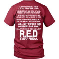 RED Fridays - Support Veterans