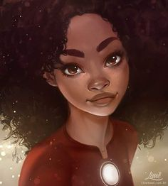 """""""Riri Williams"""", illustrated by @limetown via Amanda Duarte ✴ PLEASE TAG THE ARTIST WHEN REPOSTING THIS ART ON YOUR PAGE"""