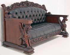 c2000 Renaissance parlor set, lookalike-Horner, mahogany, 46t, 10-11.