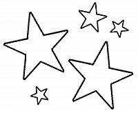 disegni di stelle da stampare colorare e ritagliare
