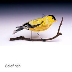 CREDIT CARD BIRDS by Bryant Holsenbeck #art #recycle #birds