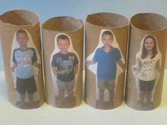 Easy paper towel roll people for your block center!