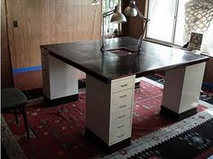 Use Helmer cabinets as base of desk