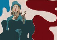 """Painted Lady"" Check out more work by Treacherous Minx on Ziibra at https://www.ziibra.com/treacherous-minx/"