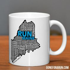 Maine Runner State Runner Collection Mugs. Exclusively from GoneForaRun.com #running #runner