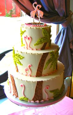 once you get the ring-o, make the cake flamingo. magpies bakery, knoxville tn