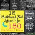 OMGosh! Can't wait to use these for all my printables!  Mega Chalkboard Font Round Up!