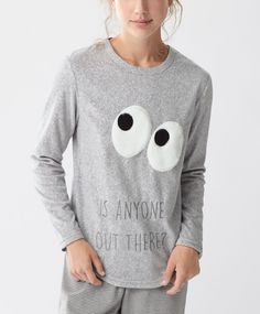 Eyes fleece T-shirt - New In - Autumn Winter 2016 trends in women fashion at…