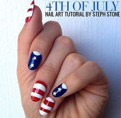 4th Of July Nail Art Design Memorial Day Nails