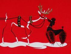 Poodle Christmas card posted by Redlandspoodles.com