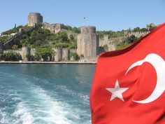 On the Bosphorus River outside Istanbul, Turkey, sailing between Asia and Europe