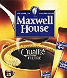 Maxwell House 25 Doses de Café Soluble qualité Filtre Normal 45 g - Lot de 4