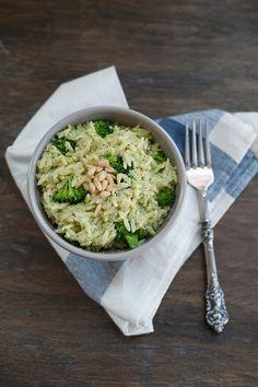 Orzo and broccoli pesto