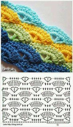 Rechte sjaal patroon