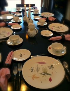 "Our ""Caprice"" pattern china by Eva Zeisel for Hall was our first collection of dishes and it keeps growing..."