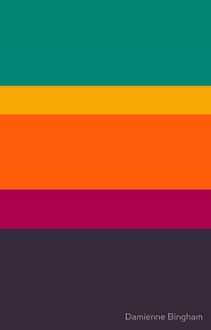 'Decor VIII [iPhone / iPad / iPod Case & Print]' Photographic Print by Didi Bingham Retro Color Palette, Orange Color Palettes, Color Schemes Colour Palettes, Colour Pallete, Color Combos, Bright Color Schemes, Vintage Color Schemes, Motif Vintage, Vintage Design