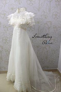 70s wedding gown
