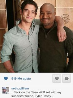 Tyler Posey and Seth Gilliam on the set of Teen Wolf Season 5!
