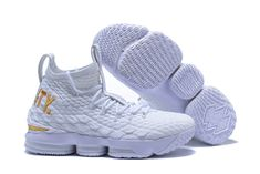 uk availability 61d5a a9b6f Nike LeBron 15 Equality PE White and Metallic Gold For Sale