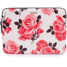 Kate Spade New York 13 Inch Rose Laptop Sleeve ($51) ❤ liked on Polyvore featuring accessories, tech accessories, pink sand multi, padded laptop case, kate spade, laptop cases, slim laptop case and laptop sleeve cases