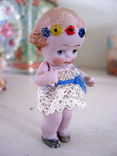 Miniature German Doll Hertwig Jointed Antique by Somethingcharming, $45.00
