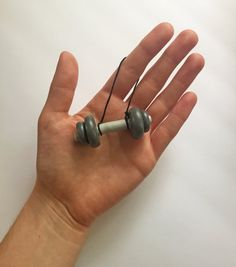 e7ec93a0e71dd Barbell Ornament - Fitness Ornament - Personal Trainer Gift - Polymer Clay  Ornament - Dumbbell Orna