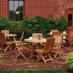 Outdoor Three Birds Braxton 48 in. Round Teak Patio Dining Set - TB151