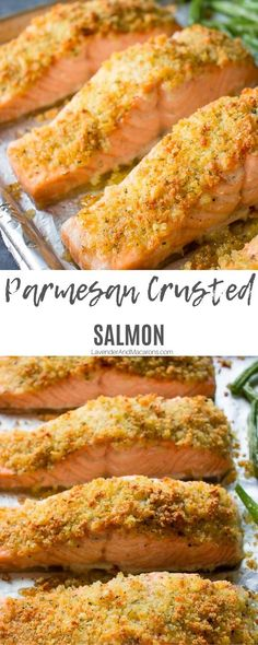 My Parmesan Crusted Salmon with potatoes and green beens are a healthy and nutritious dinner recipe for busy weeknights. Your family will love it. Salmon Potato, Baked Salmon, Salad Recipes For Dinner, Delicious Dinner Recipes, Salmon Recipes, Seafood Recipes, Green Beens, Parmesan Crusted Salmon, Green Beans And Potatoes