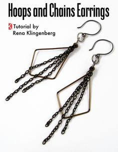Hoops and Chains Earrings - Tutorial by Rena Klingenberg