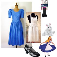 """""""DIY Alice in Wonderland Adult Costume"""" Literary Costume. Buy most things at the thrift store."""