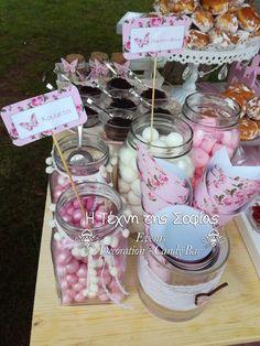 Διακόσμηση βάπτισης με θέμα floral πεταλούδα- Baptism Floral Butterfly themed Candy Bar. Candy, Desserts, Blog, Diy, Decor, Tailgate Desserts, Deserts, Decoration, Bricolage