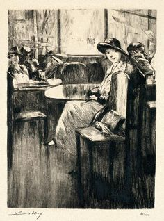 Etching by Lesser Ury.