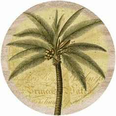 Palm Drink Coasters - Style TSQL2 . $25.09. Great gift idea.. Perfect for the Beach. Great Fashion Accessory. Good for your home.. Description:Set of 4 Natural Sandstone Absorbent CoastersCork-backed to protect furnitureMade In The USA4 inches in diameterApproximate weight: 1.5 lbs. Per Set
