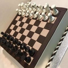 Birthday Sweets, 32 Birthday, Boy Birthday Parties, Fondant Cakes, Cupcake Cakes, Chess Cake, Game Night Parties, Novelty Cakes, Fancy Cakes