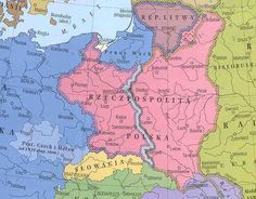 Map of the partition of Poland after the Molotov-Ribbentrop Pact Poland Map, Poland History, Land Surveyors, Fantasy Map, Alternate History, Old Maps, Historical Maps, World History, Romania